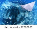 ship  paper  floats  waves | Shutterstock . vector #72335359