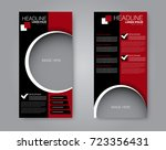vector flyer and leaflet design.... | Shutterstock .eps vector #723356431