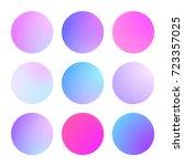 round gradient set with modern...