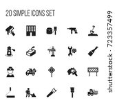 set of 20 editable structure...