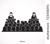 silhouette illustration of two... | Shutterstock .eps vector #723358591