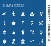 set of 20 editable planting...