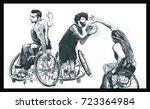 wheelchair basketball. ... | Shutterstock .eps vector #723364984