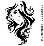 illustration of women long hair ... | Shutterstock .eps vector #723365539