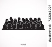 silhouettes of male  female ... | Shutterstock .eps vector #723368029