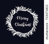 merry christmas beautiful... | Shutterstock .eps vector #723371821