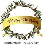merry christmas. beautiful... | Shutterstock .eps vector #723372739