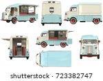 Food Truck Mobile Beige Cafe...