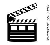 clapperboard cinema icon image  | Shutterstock .eps vector #723385969