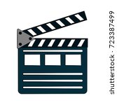 clapperboard cinema icon image  | Shutterstock .eps vector #723387499