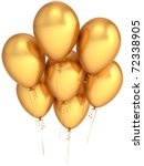 Party Balloons Gold 7 Seven...