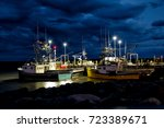 Fishing Boats In The Bay Of...