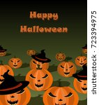 illustration of halloween... | Shutterstock .eps vector #723394975