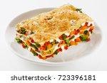 healthy portion of fresh... | Shutterstock . vector #723396181