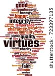 virtues word cloud concept.... | Shutterstock .eps vector #723397135