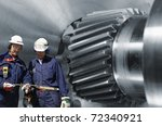 engineers  metal workers  with... | Shutterstock . vector #72340921