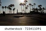 a venice beach basketball court ... | Shutterstock . vector #723411091