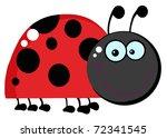 ladybug cartoon character   Shutterstock . vector #72341545