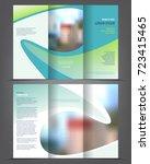 vector tri fold brochure... | Shutterstock .eps vector #723415465