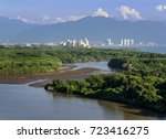 Small photo of View of Puerto Vallarta over Ameca River