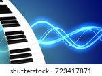 3d illustration of piano... | Shutterstock . vector #723417871