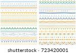 seasonal ornaments. doodle... | Shutterstock .eps vector #723420001