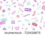 seamless graphic memphis... | Shutterstock .eps vector #723428875