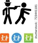 assassinate icon | Shutterstock .eps vector #723441181