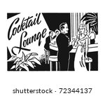 cocktail lounge 2   retro ad... | Shutterstock .eps vector #72344137