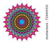 flower mandala design. vector... | Shutterstock .eps vector #723442531