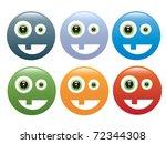set of colored smileys | Shutterstock .eps vector #72344308
