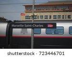 Tgv Train At Sncf Marseille...