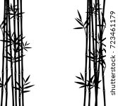 bamboo background. vector | Shutterstock .eps vector #723461179