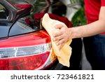 male auto care service staff... | Shutterstock . vector #723461821