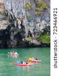 phi phi island  krabi  thailand ... | Shutterstock . vector #723466921