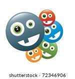 smileys vector | Shutterstock .eps vector #72346906