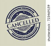 blue cancelled distressed... | Shutterstock .eps vector #723469159