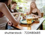 beautiful asian woman is having ...   Shutterstock . vector #723480685