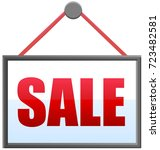 sale sign or notice with string ... | Shutterstock .eps vector #723482581