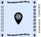 map pointer service icon ... | Shutterstock .eps vector #723491851