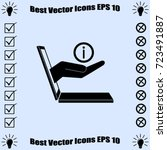 e commerce icon  support ... | Shutterstock .eps vector #723491887