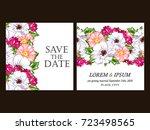 vintage delicate invitation... | Shutterstock .eps vector #723498565