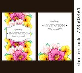 invitation with floral... | Shutterstock .eps vector #723503461