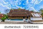 wat xieng thong landmark in... | Shutterstock . vector #723505441