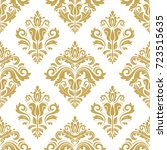 oriental classic golden pattern.... | Shutterstock . vector #723515635