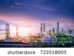 Oil and gas refinery plant or...