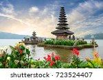 pura ulun danu bratan  a hindu... | Shutterstock . vector #723524407