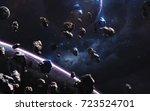 Meteorites. Deep Space Image ...
