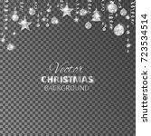 sparkling christmas glitter... | Shutterstock .eps vector #723534514