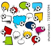 sport big set football picture... | Shutterstock .eps vector #723537094